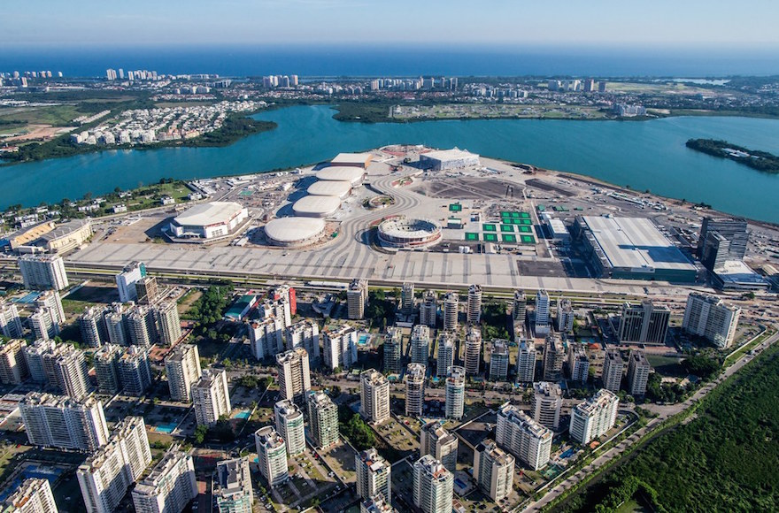 An aerial view of Rio 2016 Olympic Park during construction. (Gabriel Heusi/Brasil2016.gov.br)